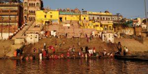 Bathing in Ganges in Varanasi India